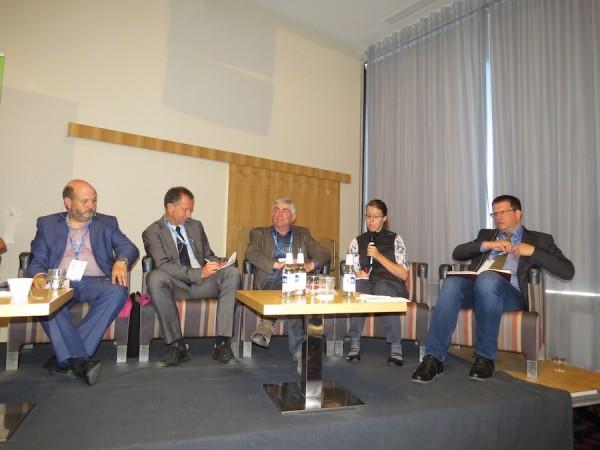 Speakers in a discussion at EOC 2017 in Tallinn.