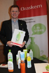 Martin Clemesha,Braskem showing Green PE packaging