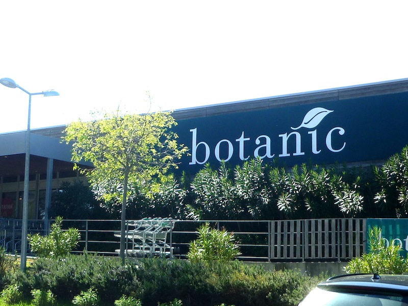 Botanic Franch garden center with organic food