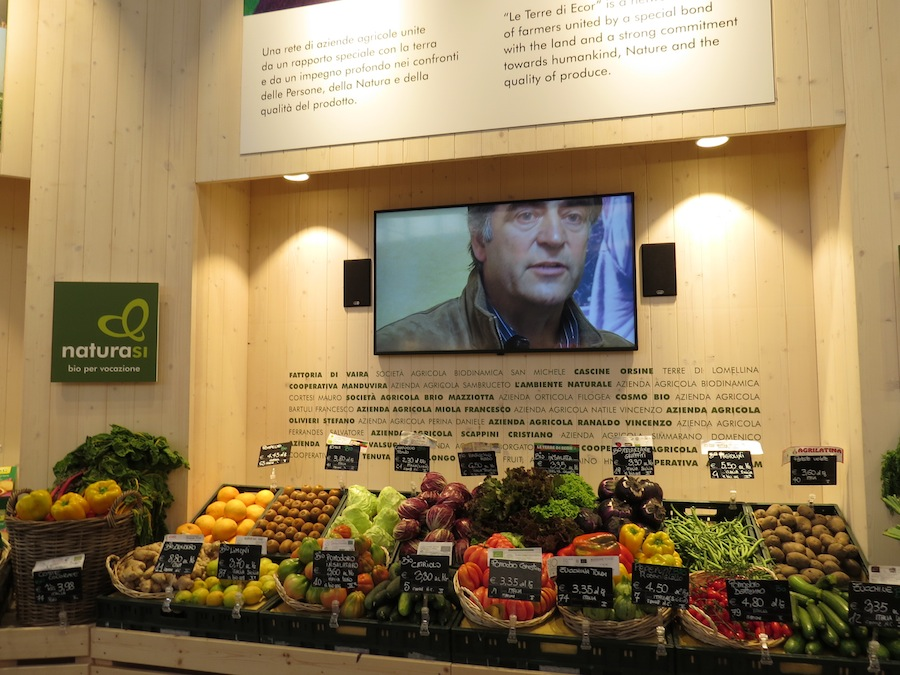 NaturaSi is the biggest organic supermarket chain in Italy.