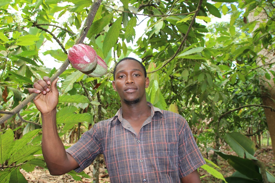 cocoa farmer Nelson Cruz is pleased with the support he gets from GEPA.