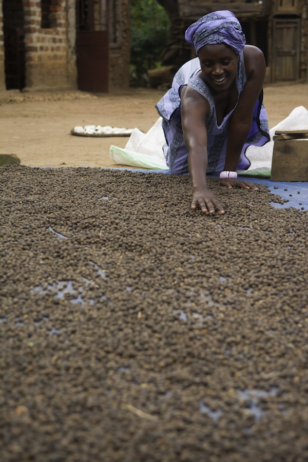 coffee farmer Agnes Tumuramye in  Uganda will soon supply her first organic coffee.