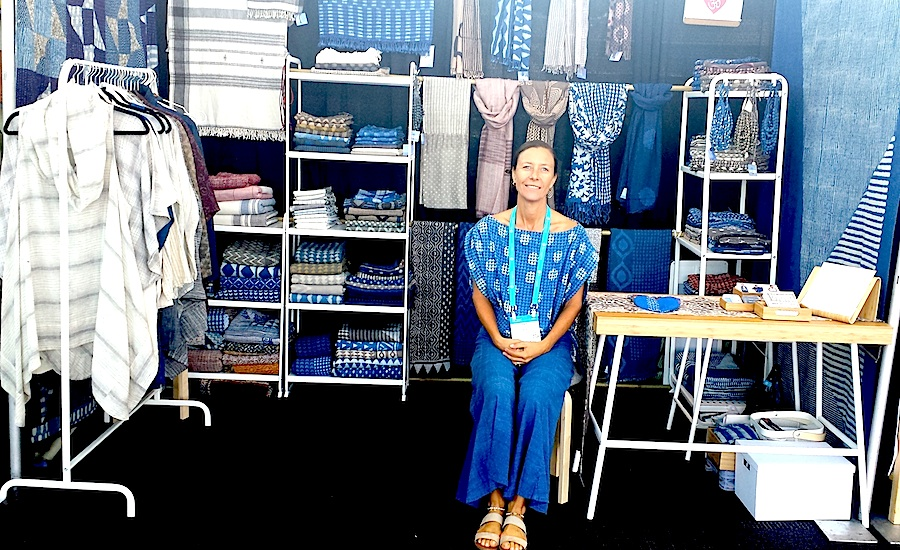 : Ondi McMaster-Chullil at a wholesale exhibit for OMkhadi