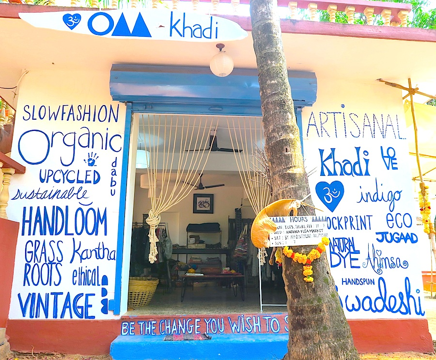 The OMkhadi store in Anjuna