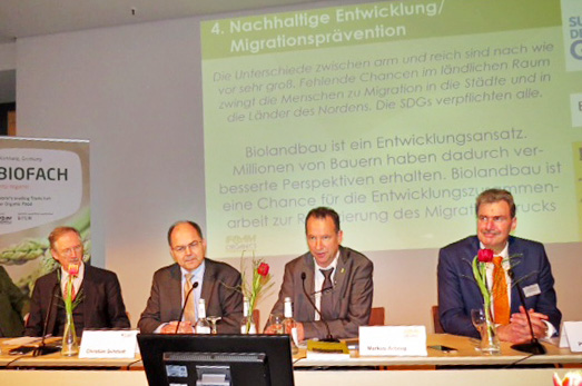 Panel with the Minister of Agriculture Christian Schmidt at Biofach
