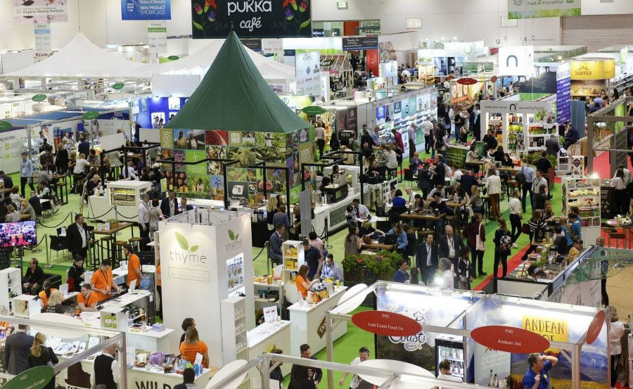More than 700 exibitors and 10,000+ attendees at the Natural & Organic Prooducts Expo. Photo: Diversified UK