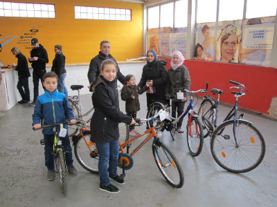 Bicycles for the refugees - importance of being mobile