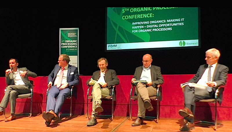 The panel with the new Head of the Organic Unit of DG Agri, Nicolas Verlet, showed progress and problems of the new regualtion.