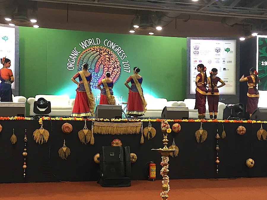 The opening celebration of the Organic World Congress.