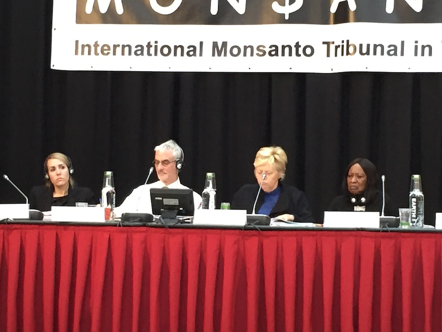 The Monsanto Tribunal with official judges from many countries.
