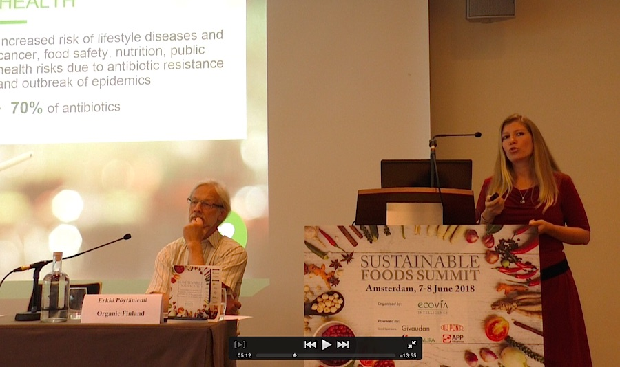 Verena Wiederkehr speaker for Proveg International addressed the benefits of plant based food. Photo Karin Heinze