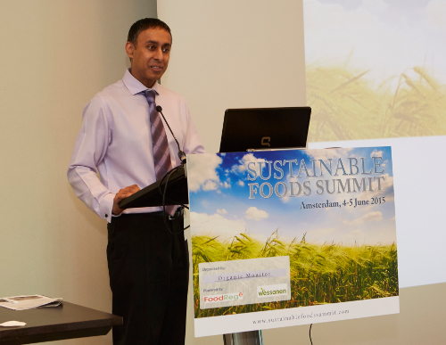 Amarjit Sahota at the Sustainable Food Summit Europe 2015