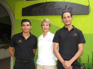 Team of Ola Verde - organic restaurant in Managua