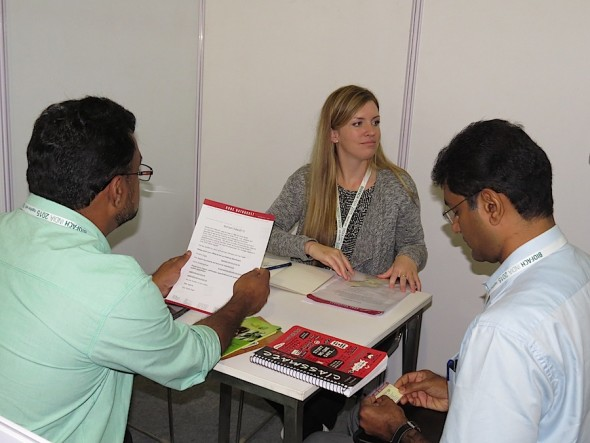 Buyer-seller meetings at BioFach India.