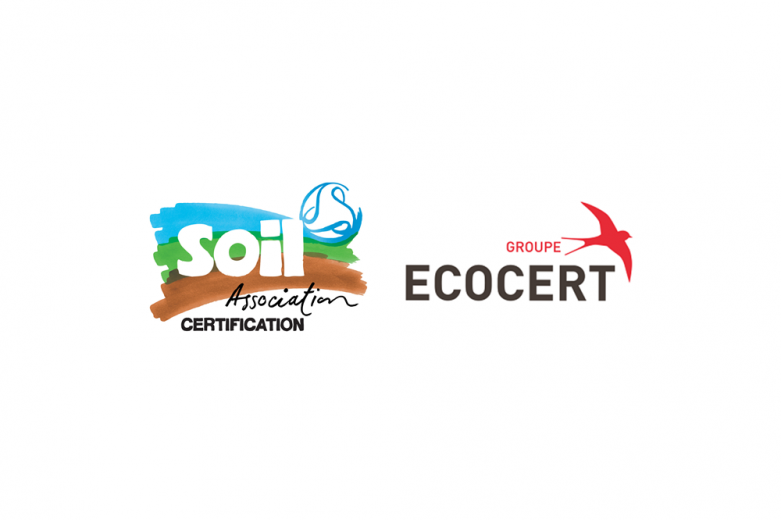 Logos Soil Association Certification and Ecocert
