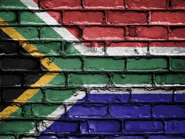 Wallpainting: South African flag