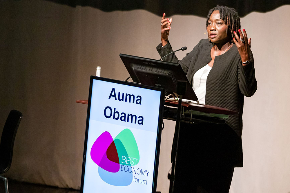 Auma Obama at the Best Economy Forum