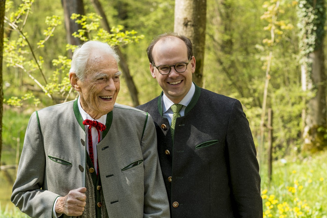 Otto Greither and co-director Dr. Florian Block in the Bruckmühler Auwald