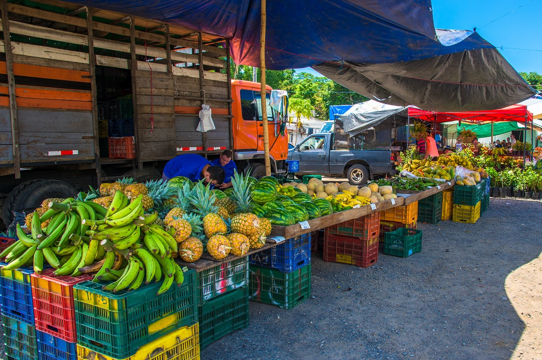 Market stall in Costa Rica