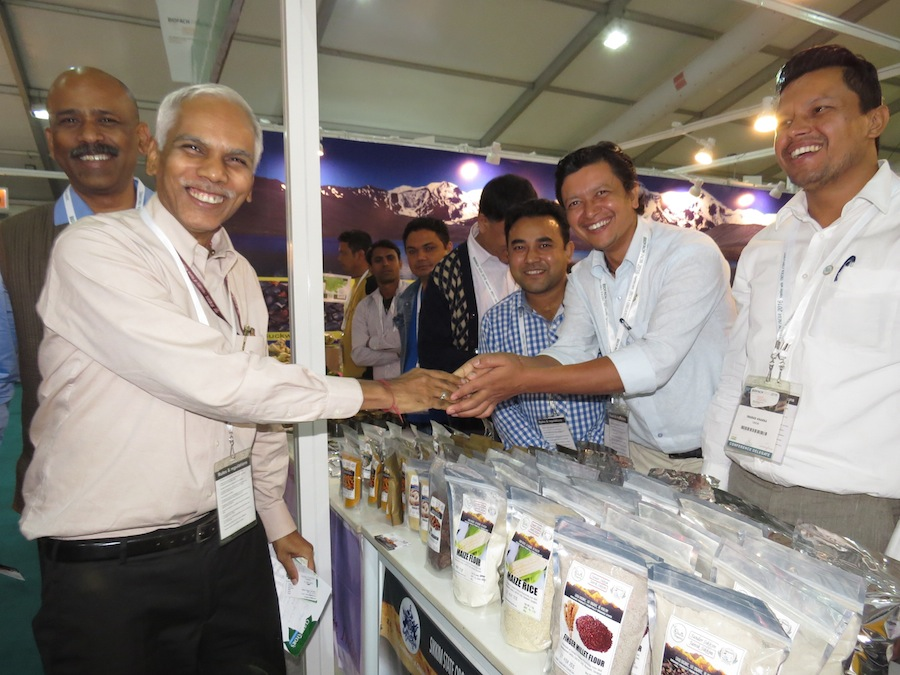 Politicians meeting with faramers at the BioFach India 2016