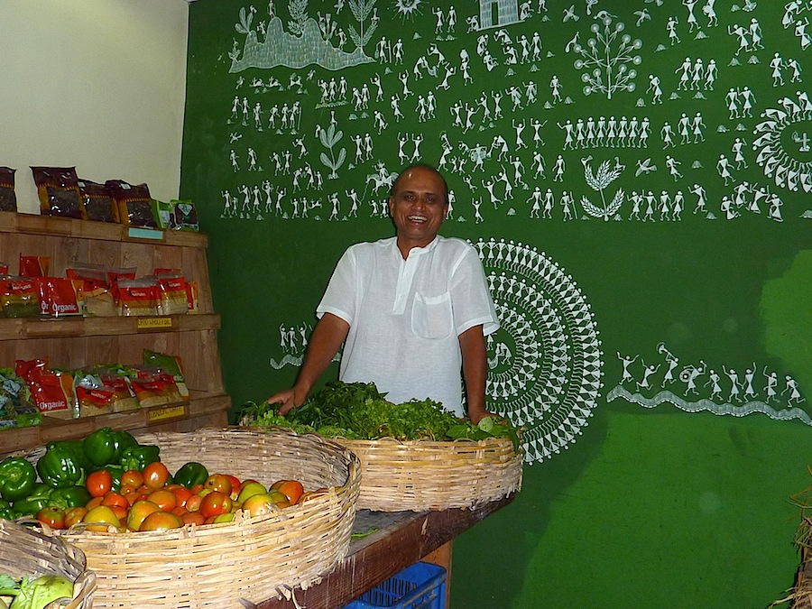 H.R. Jayaram in his first oragnic shop in Bangalore five years ago..