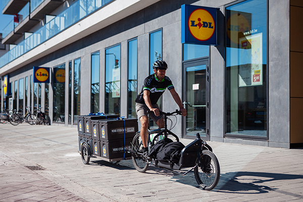 Lidl's bicycle delivery service