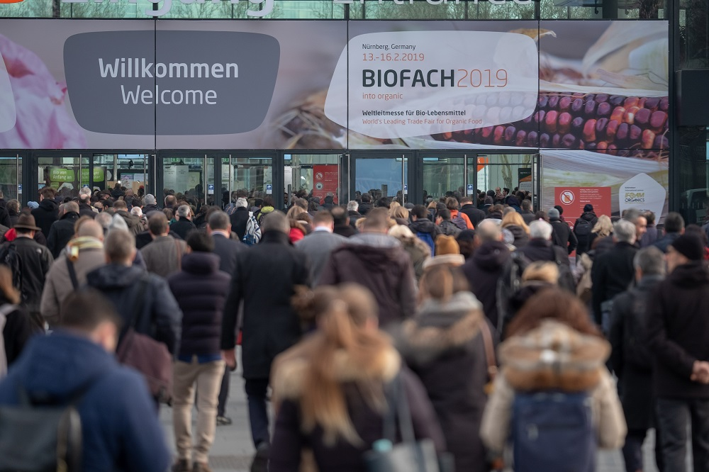 Crowds of visitors at Biofach 2019