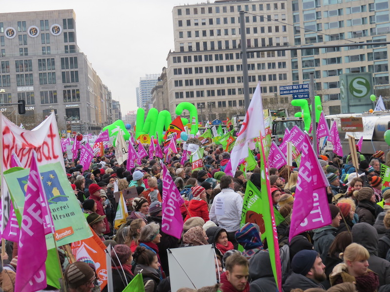 Demo against agro industry and also glyphosate in Berlin