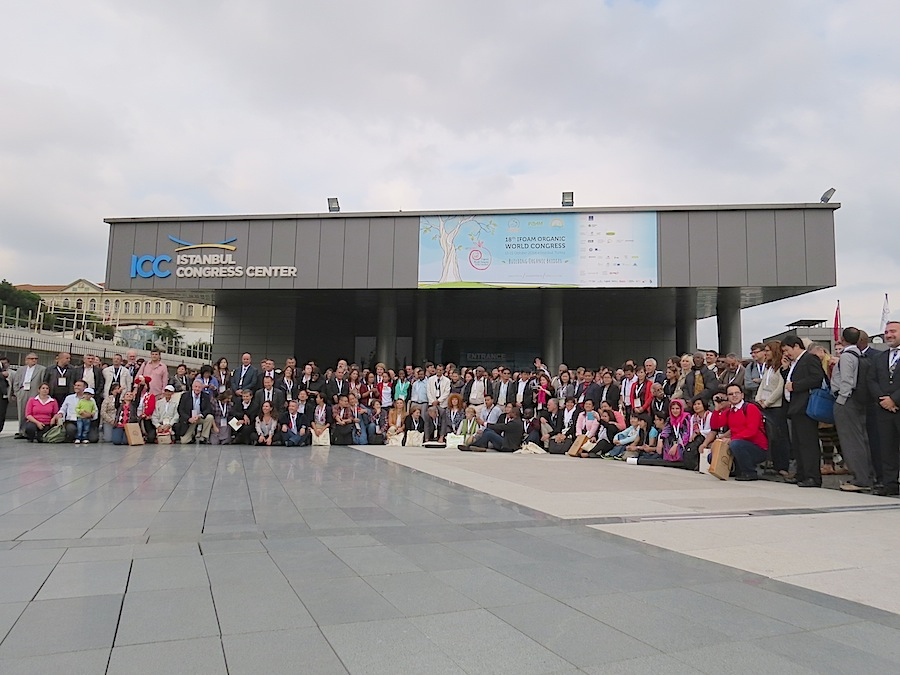 Group photo of the prticipants of the 18th IFOAM World Congress in Istanbul 2014.